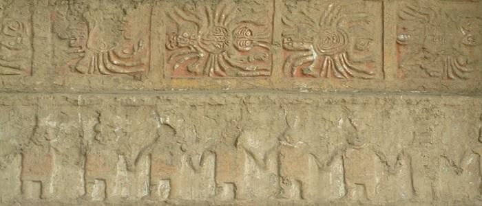 Wall engravings Peru